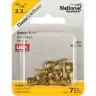 National #212 Brass Small Screw Eye (7 Ct.) Image 2