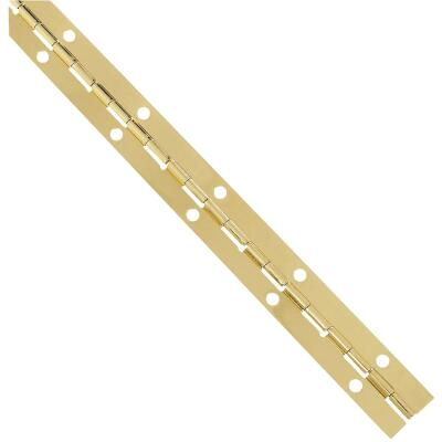 National Steel 1-1/16 In. x 12 In. Bright Brass Continuous Hinge