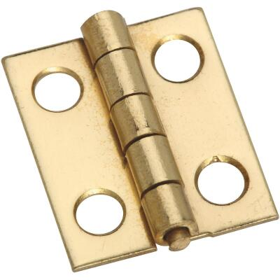 National 3/4 In. x 5/8 In. Narrow Brass Decorative Hinge (4-Pack)