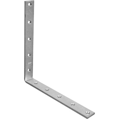 National Catalog 115 10 In. x 1/4 In. Zinc Corner Brace
