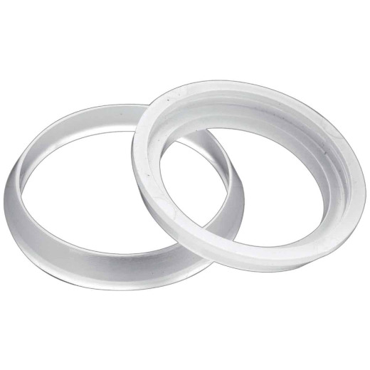 Do it 1-1/2 In. x 1-1/2 In. Clear Poly Slip Joint Washer (2 Pack)