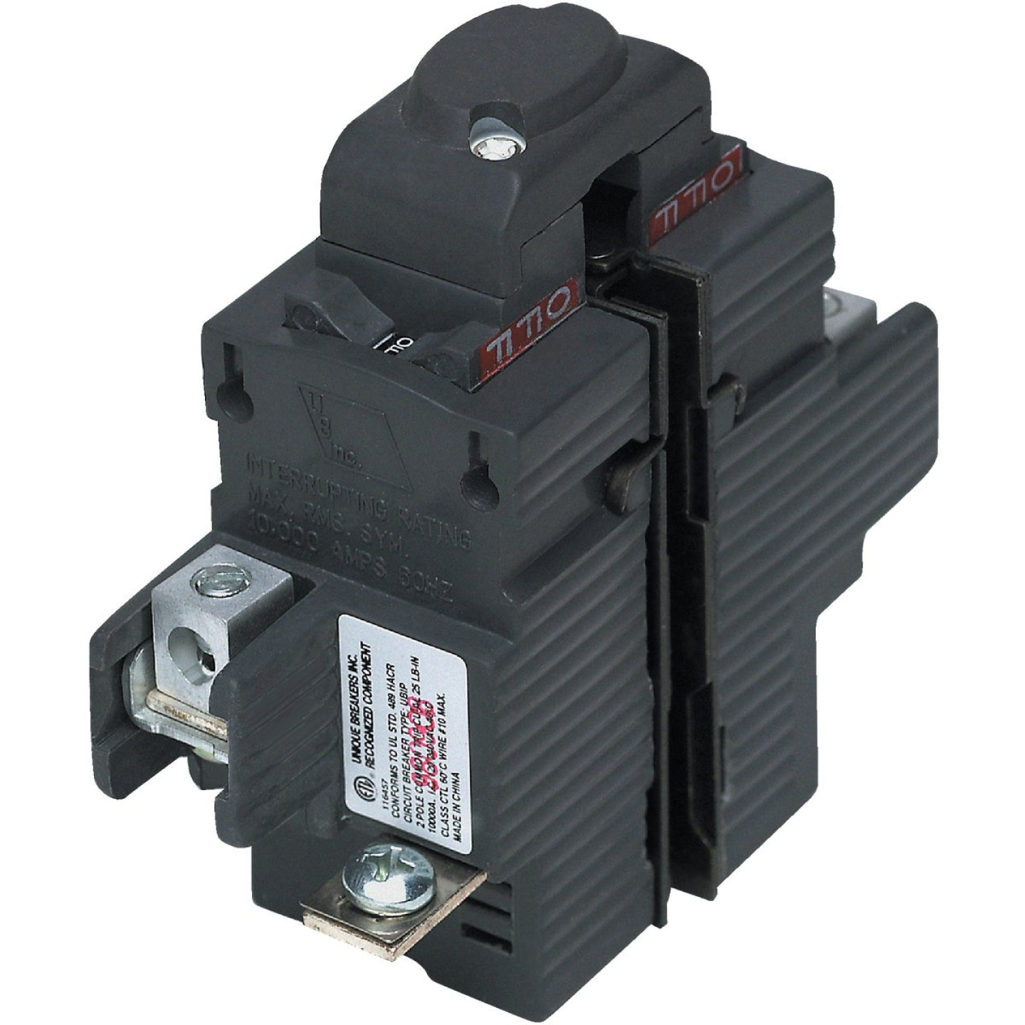 Connecticut Electric 40A Double-Pole Standard Trip Packaged Replacement Circuit Breaker For Pushmatic Image 1