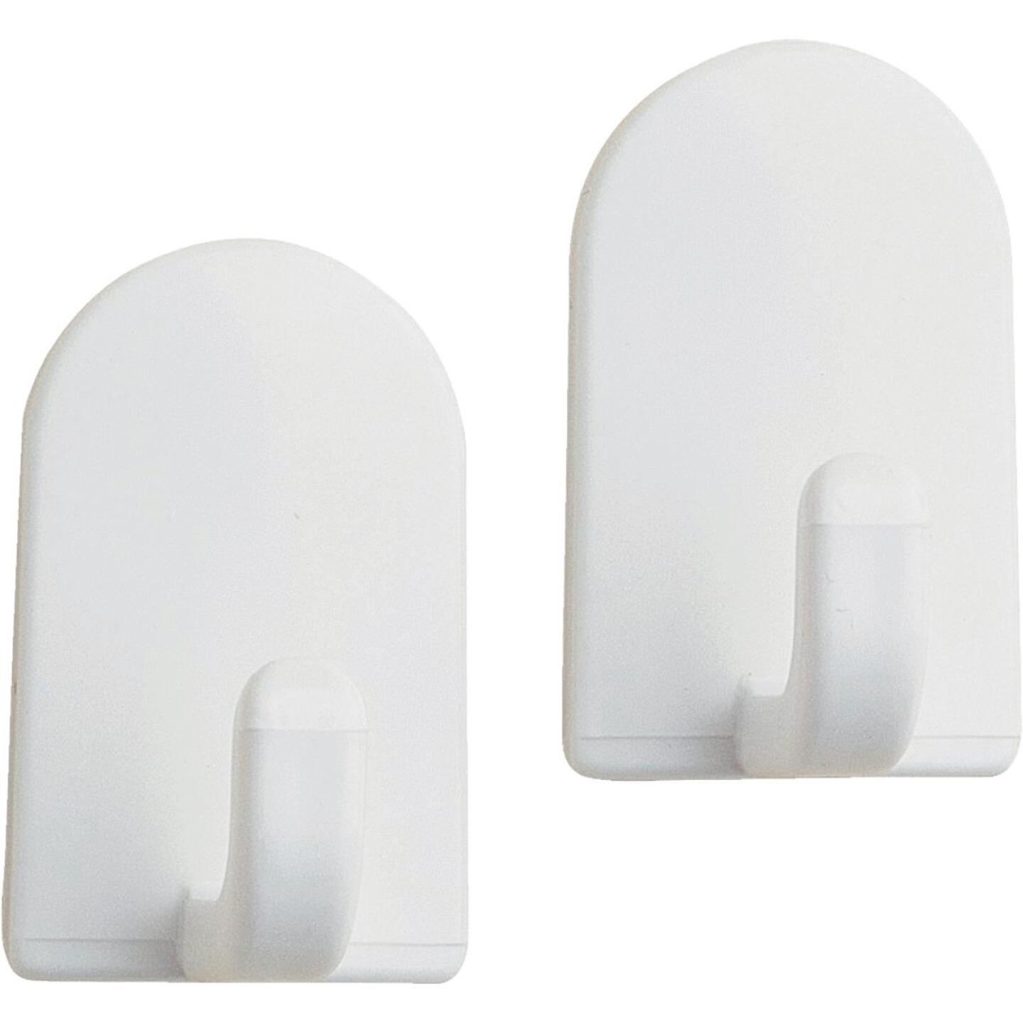 InterDesign Soap Savers Mini White Plastic Adhesive Hook (2-Pack) Image 1