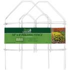 Best Garden 8 Ft. White Galvanized Wire Folding Fence Image 2