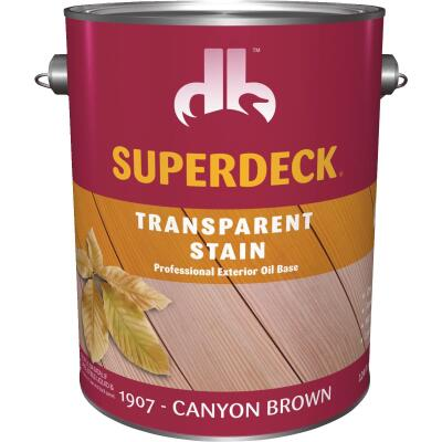 Duckback SUPERDECK Transparent Exterior Stain, Canyon Brown, 1 Gal.